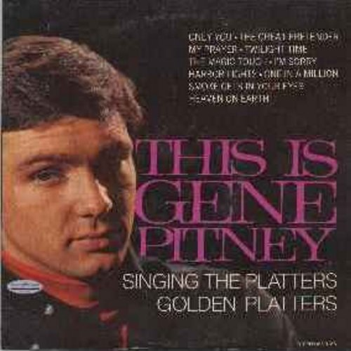 Pitney, Gene - This Is Gene Pitney Singing The Platters Golden Platters: Only You, The Great Pretender, My Prayer, Twilight Time, The Magic Touch, Harbor Lights, Smoke Gets In Your Eyes (vinyl LP record) - NM9/VG6 - LP Records