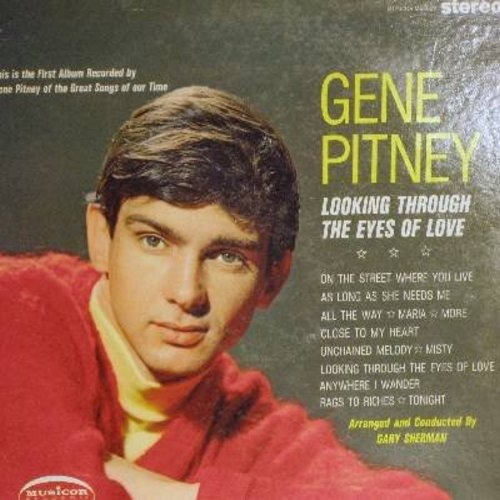 Pitney, Gene - Looking Through The Eyes Of Love: Unchained Melody, Misty, Tonight, Maria, More (vinyl STEREO LP record) - EX8/VG7 - LP Records
