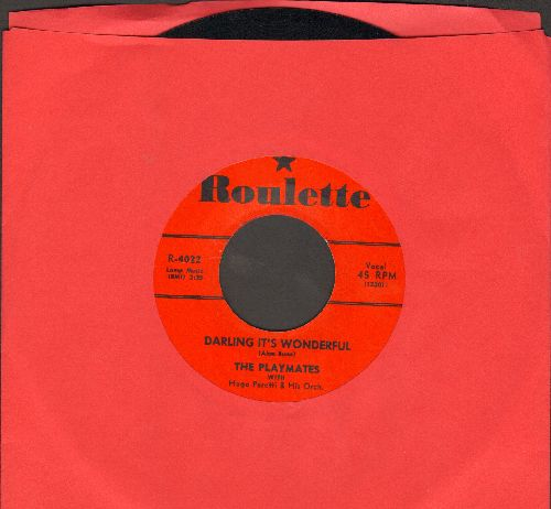 Playmates - Darling It's Wonderful/Island Girl - EX8/ - 45 rpm Records