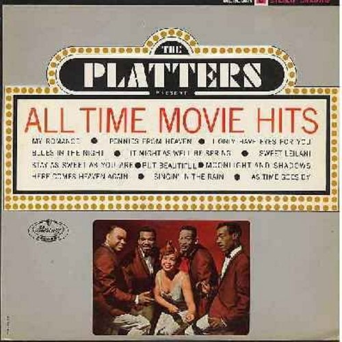 Platters - All Time Movie Hits: Pennies From Heaven, I Only Have Eyes For You, Singin' In The Rain, As Time Goes By (vinyl STEREO LP record) - EX8/EX8 - LP Records