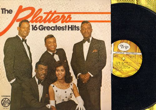 Platters - 16 Greatest Hits: The Great Pretender, My Prayer, Twilight Time, Harbor Lights, Smoke Gets In Your Eyes, I'm Sorry (vinyl STEREO LP record, re-issue of vintage recordings) - NM9/EX8 - LP Records