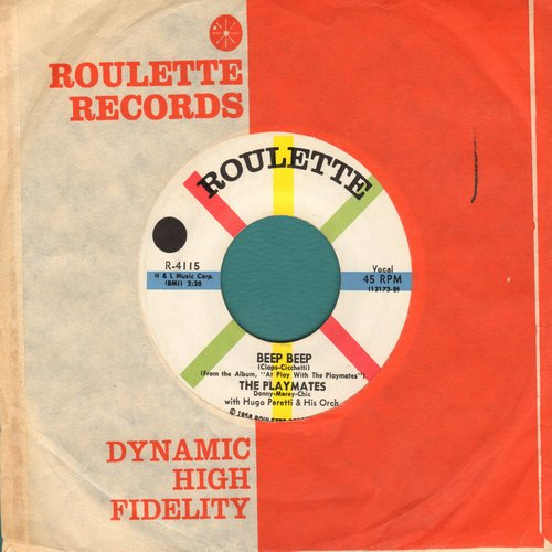 Playmates - Beep Beep/Your Love (with Roulette company sleeve) - NM9/ - 45 rpm Records