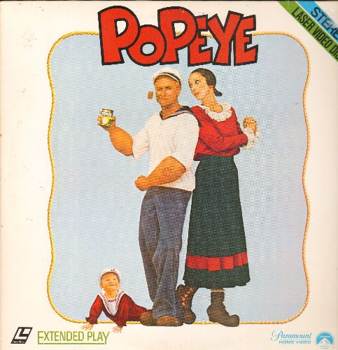 Popeye - Popeye - LASER DISC version of the Comedy Classic starring Robin Williams and Shelley Duvall (This is a LASER DISC, not any other kind of media) - NM9/NM9 - Laser Discs