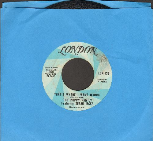Poppy Family - That's Where I Went Wrong/Shadows On The Wall - EX8/ - 45 rpm Records