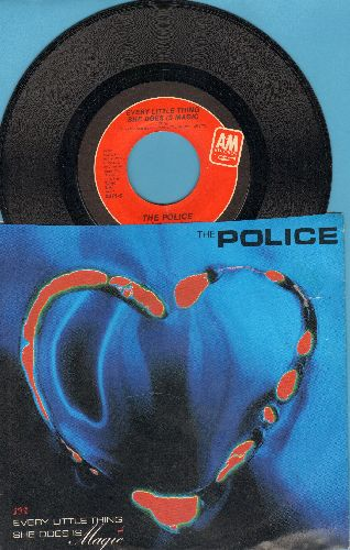 Police - Every Little Thing She Does Is Magic/Shambelle (with picture sleeve) - EX8/NM9 - 45 rpm Records