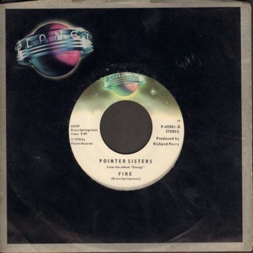 Pointer Sisters - Fire/Love Is Like A Rolling Stone - NM9/ - 45 rpm Records