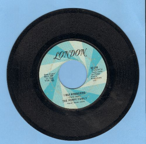 Poppy Family - I Was Wondering/Where Evil Grows - EX8/ - 45 rpm Records