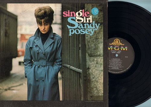 Posey, Sandy - Single Girl: Hey Mister, I'm Your Puppet, The Twelfth Of Never, A Place In The Sun (vinyl MONO LP record) - VG7/VG7 - LP Records
