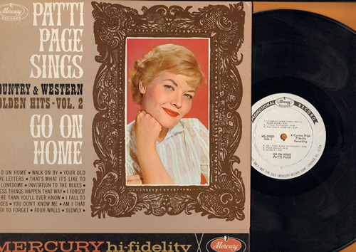 Page, Patti - Patti Page Sings Country And Western Golden Hit Vol. 2: Walk On By, I Fall To Pieces, You Don't Know Me, Four Walls (vinyl MONO LP record, DJ advance pressing) - NM9/NM9 - LP Records