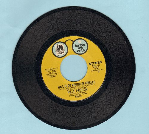 Preston, Billy - Will It Go Round In Circles/Space Race (double-hit re-issue) - NM9/ - 45 rpm Records