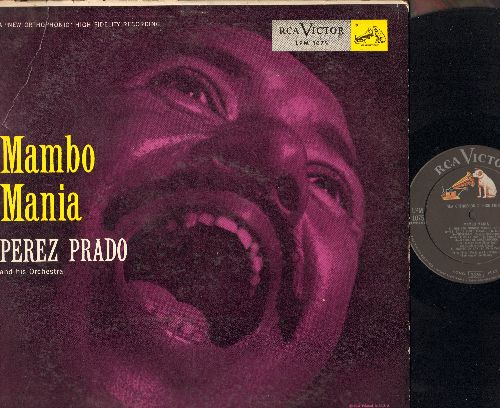 Prado, Perez & His Orchestra - Mambo Mania: Skokiaan, Marilyn Monroe Mambo, Cherry Pink And Apple Blossom White, The High And The Mighty (vinyl MONO LP record) - NM9/VG6 - LP Records