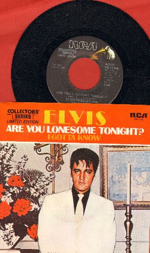 Presley, Elvis - Are You Lonesome Tonight?/I Gotta Know (re-issue with picture sleeve) - NM9/NM9 - 45 rpm Records