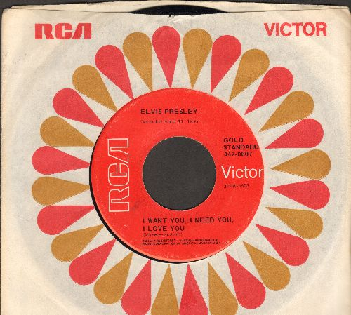 Presley, Elvis - I Want You, I Need You, I Love You/My Baby Left Me (re-issue) - NM9/ - 45 rpm Records