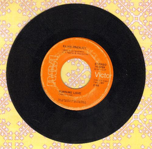 Presley, Elvis - Burning Love/It's A Matter Of Time - VG7/ - 45 rpm Records