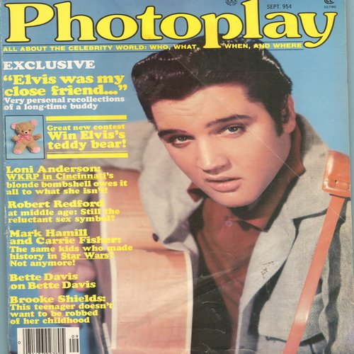 Presley, Elvis - Photoplay Magizine September 1979 featuring Elvis cover portrait and story, Brooke Shield's 14th birthday party, more! GREAT Teen Nostalgia! - EX8/ - Elvis Magazines
