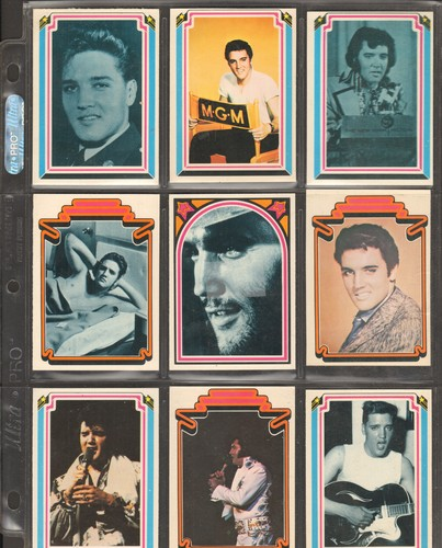 Presley, Elvis - Collector's Sheet of 9 Elvis Presley Trading Cards. GREAT gift for a fan of the King of Rock & Roll! - NM9/ - Elvis Magazines