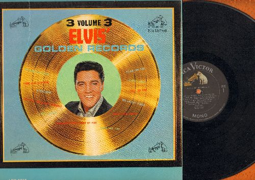 Presley, Elvis - Elvis' Golden Records Vol. 3: Surrender, Are You Lonesome Tonight?, Little Sister, She's Not You (vinyl MONO LP record) - VG7/EX8 - LP Records