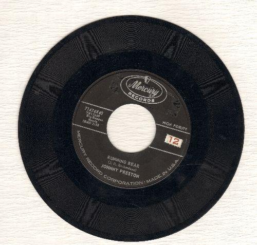 Preston, Johnny - Running Bear (Loves Little White Dove)/My Heart Knows  - VG7/ - 45 rpm Records