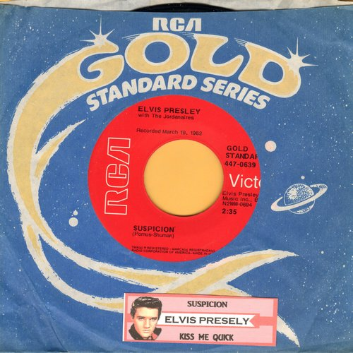 Presley, Elvis - Suspicious Minds/You'll Think Of Me (70s re-issue with RCA company sleeve and juke box label) - M10/ - 45 rpm Records