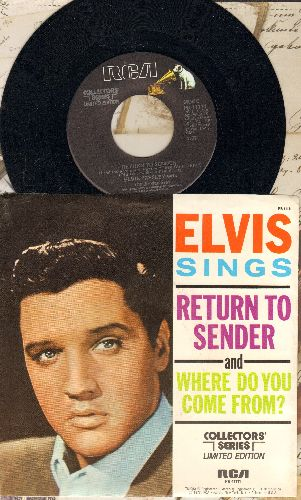 Presley, Elvis - Return To Sender/Where Do You Come From (re-issue with picture sleeve) - NM9/NM9 - 45 rpm Records