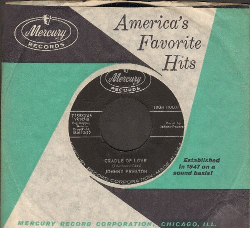 Preston, Johnny - Cradle Of Love/City Of Tears (with Mercury company sleeve) - EX8/ - 45 rpm Records