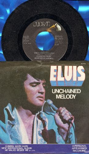 Presley, Elvis - Unchained Melody/Softly, As I Leave You (with picture sleeve) - EX8/EX8 - 45 rpm Records