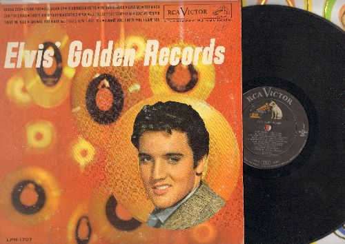 Presley, Elvis - Elvis' Golden Records: Hound Dog, Jailhouse Rock, Don't Be Cruel, Teddy Bear, Love Me Tender (vinyl MONO LP record) - VG7/VG6 - LP Records