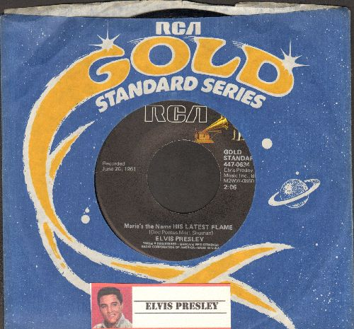 Presley, Elvis - Marie's The Name (Of His Latest Flame)/Little Sister (re-issue with RCA company sleeve) - NM9/ - 45 rpm Records
