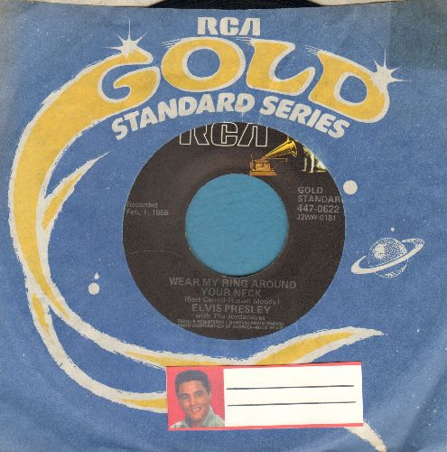 Presley, Elvis - Wear My Ring Around Your Neck/Don't You Think It's Time (double-hit re-issue with RCA company sleeve) - EX8/ - 45 rpm Records