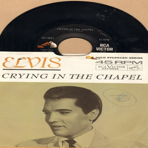 Presley, Elvis - Crying In The Chapel/I Believe In The Man In The Sky (with picture sleeve)(wol/wos) - EX8/VG7 - 45 rpm Records
