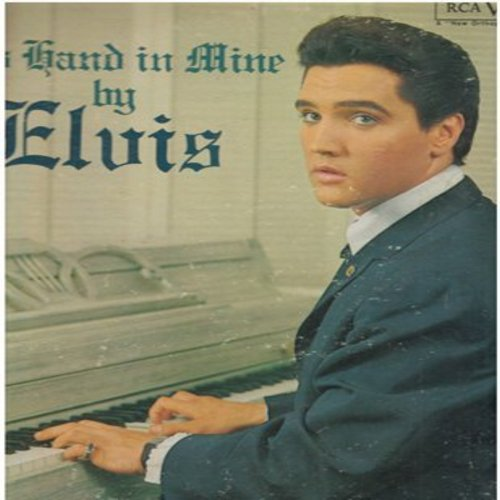 Presley, Elvis - His Hand In Mine: In My Father's House, Swing Down Sweet Chariot, If We Never Meet Again (black label MONO LP record) - VG7/VG7 - LP Records