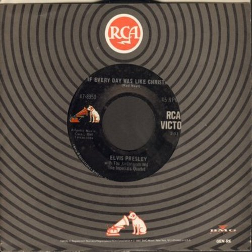 Presley, Elvis - If Every Day Was Like Christmas/How Would You Like To Be (with RCA company sleeve) - EX8/ - 45 rpm Records