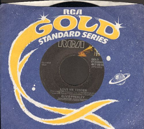 Presley, Elvis - Love Me Tender/Anyway You Want Me (re-issue with RCA company sleeve) - EX8/ - 45 rpm Records