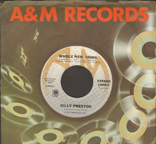 Preston, Billy - Whole New Thing/Wide Stride (with A&M company sleeve) - M10/ - 45 rpm Records