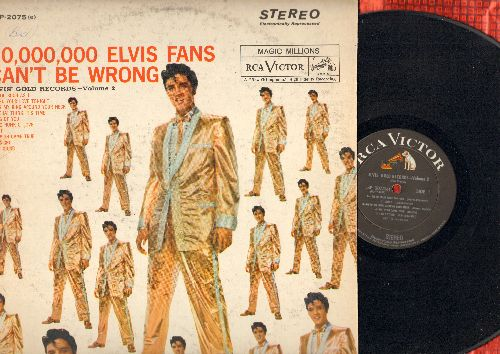 Presley, Elvis - 50,000,000 Fans Can't Be Wrong - Elvis' Gold Records  Vol. 2: A Fool Such As I, One Night, A Big Hunk O' Love, Don't (vinyl STEREO LP record, 1964 pressing) - EX8/VG6 - LP Records
