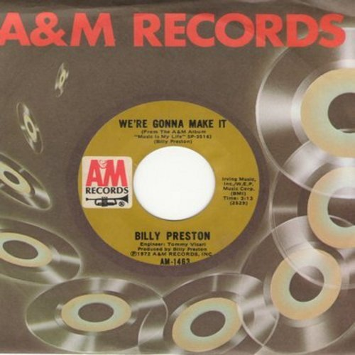 Preston, Billy - We're Gonna Make It/Space Race (with A&M company sleeve) - NM9/ - 45 rpm Records