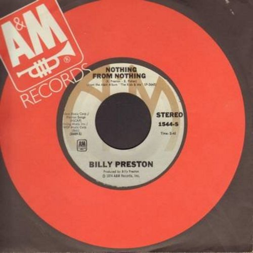 Preston, Billy - Nothing From Nothing/My Soul Is A Witness (with A&M company sleeve) - EX8/ - 45 rpm Records