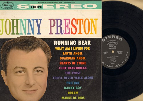 Preston, Johnny - Johnny Preston: Running Bear, What Am I Living For, Earth Angel, The Twist, Pretend, Guardian Angel (vinyl STEREO LP record, first issue) - VG7/EX8 - LP Records