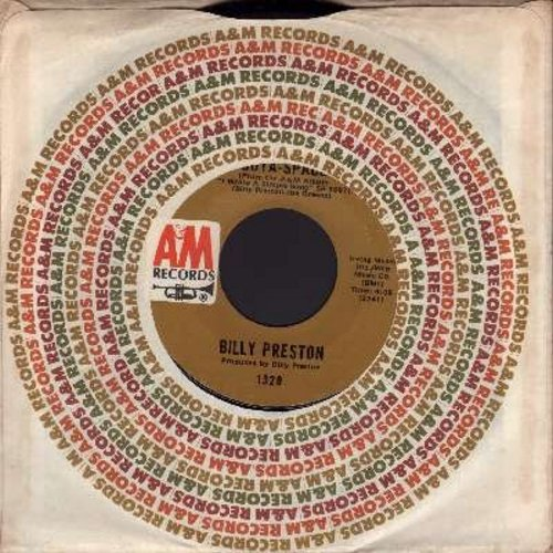 Preston, Billy - Outa-Space/I Wrote A Simple Song (with A&M company sleeve) - NM9/ - 45 rpm Records