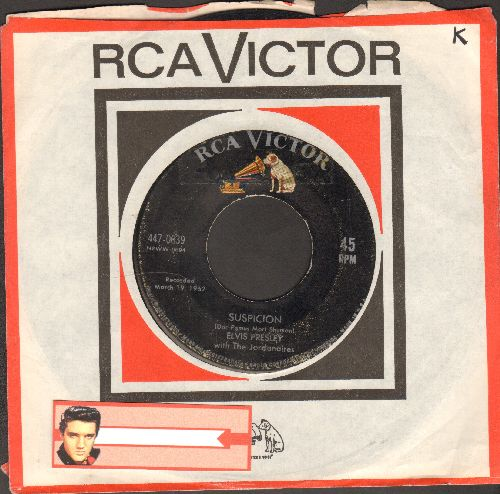 Presley, Elvis - Suspicious Minds/You'll Think Of Me (first pressing with RCA company sleeve) - VG7/ - 45 rpm Records