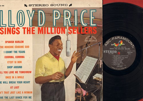 Price, Lloyd - Lloyd Price Sings The Million Sellers: I Count The Tears, C'est Si Bon, Shop Around, He Will Break Your Heart, At Last (vinyl STEREO LP record) - EX8/G5 - LP Records