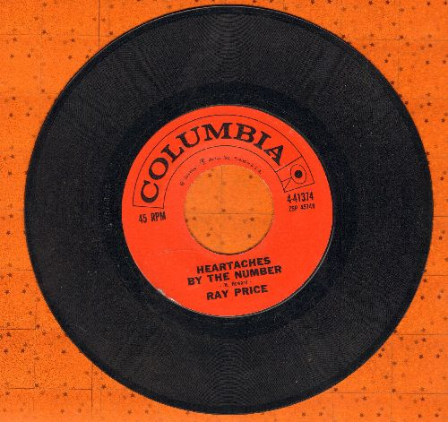 Price, Ray - Heartaches By The Number/Wall of tears  - NM9/ - 45 rpm Records