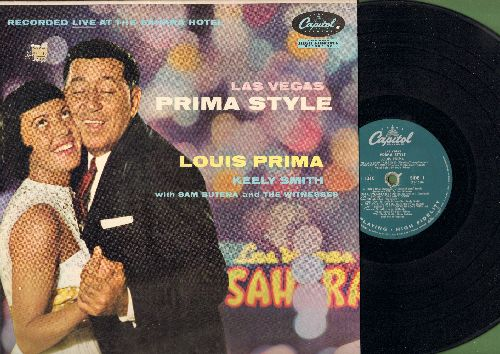 Prima, Louis & Keely Smith - Las Vegas Prima Style: Tiger Rag, White Cliffs Of Dover, Greenback Dollar Bill, Too Marvelous For Words (vinyl MONO LP record) - NM9/VG7 - LP Records