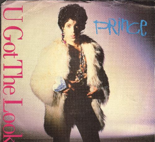 Prince - U Got That Look/Housequake (with picture sleeve) - EX8/VG7 - 45 rpm Records