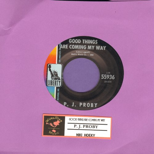 Proby, P. J. - Good Things Are Coming My Way/Niki Hoeky - EX8/ - 45 rpm Records