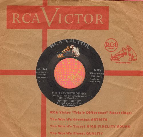 Prophet, Johnny - Am 30. Mai ist der Weltuntergang/The Nightingale Who Sang Off Key (with RCA companny sleeve) - EX8/ - 45 rpm Records