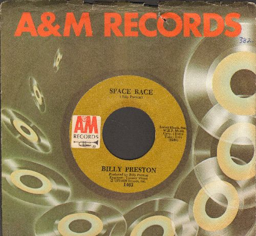Preston, Billy - We're Gonna Make It/Space Race (with A&M company sleeve) - VG7/ - 45 rpm Records