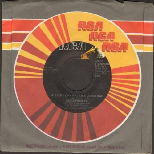 Presley, Elvis - If Every Day Was Like Christmas/How Would You Like To Be (re-issue with RCA company sleeve) - NM9/ - 45 rpm Records