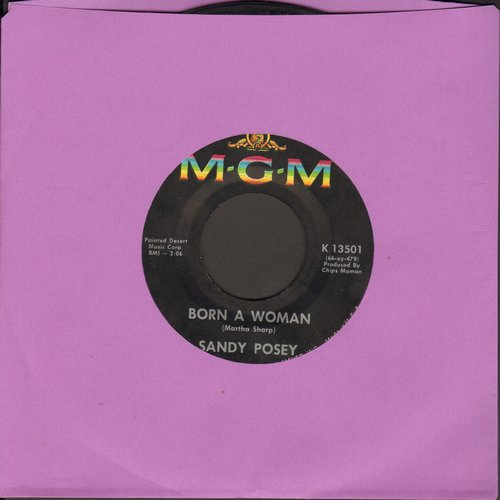 Posey, Sandy - Born A Woman/Caution To The Wind - VG6/ - 45 rpm Records