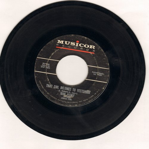 Pitney, Gene - That Girl Belongs To Yesterday/Who Needs It - VG6/ - 45 rpm Records